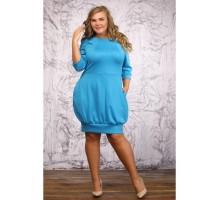 Платье Брук голубое Осень3045