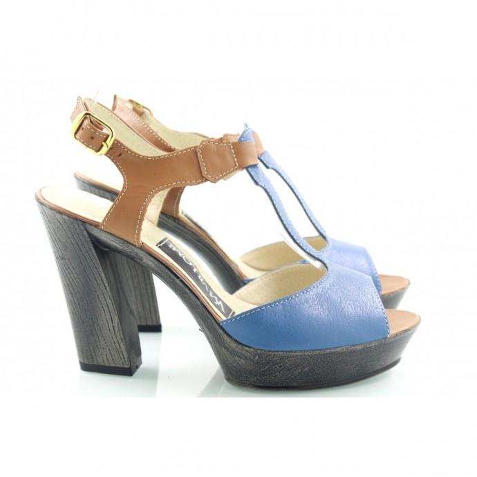 Босоножки кожаные на каблуке КИРА9405-8010-07