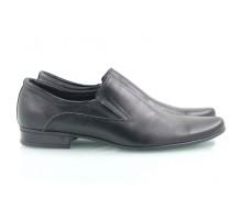 Черные кожаные мужские туфли КИРА8426-T-14