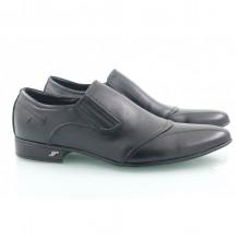 Кожаные мужские туфли на резинках строчка КИРА8420-T-16