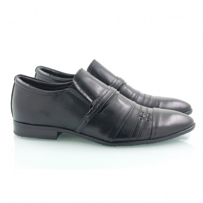 Кожаные мужские туфли на резинках КИРА8422-М-4