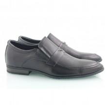 Кожаные мужские туфли на резинках КИРА8421-М-5