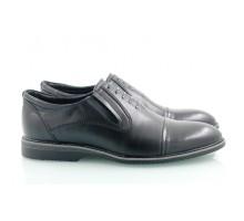 Черные кожаные мужские туфли КИРА8417-Т18