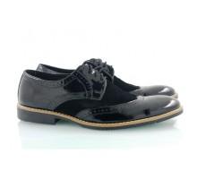 Черные мужские туфли КИРА8416-Т19