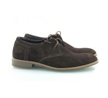 Коричневые замшевые мужские туфли КИРА8415-Т20