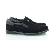 Черные замшевые мужские туфли КИРА8414-Т21