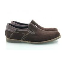 Коричневые замшевые мужские туфли КИРА8413-Т211