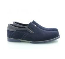 Синие замшевые мужские туфли КИРА8412-Т212