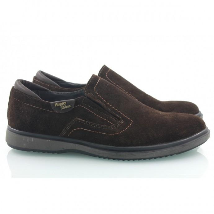 Замшевые мужские туфли КИРА8404-MD07