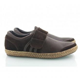 Кожаные мужские туфли на липучке КИРА8402-MD10
