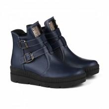 Ботинки синего цвета с пряжками КИРА1191-Astra-17