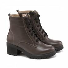 Женские зимние ботинки на не высоком каблуке КИРА1187-4017-04