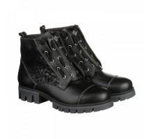 Кожаные ботинки черного цвета с декором КИРА1165-vm-tera-08