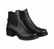 Кожаные ботинки черного цвета на каблуке КИРА1169-vm-7917-03ch