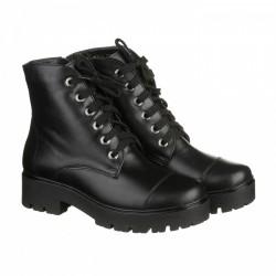 Черные зимние кожаные ботинки КИРА1199-astra-12k