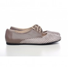 Замшевые туфли в горошек КИРА1-290-01
