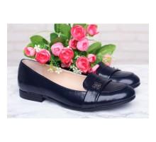 Женские синие лаковые туфли КИРА1-857-06