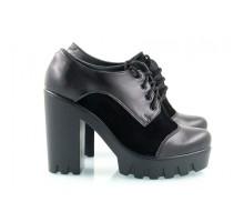 Кожаные туфли черные КИРА2018-818-10Ч