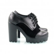 Кожаные туфли черные КИРА2018-818-10ch
