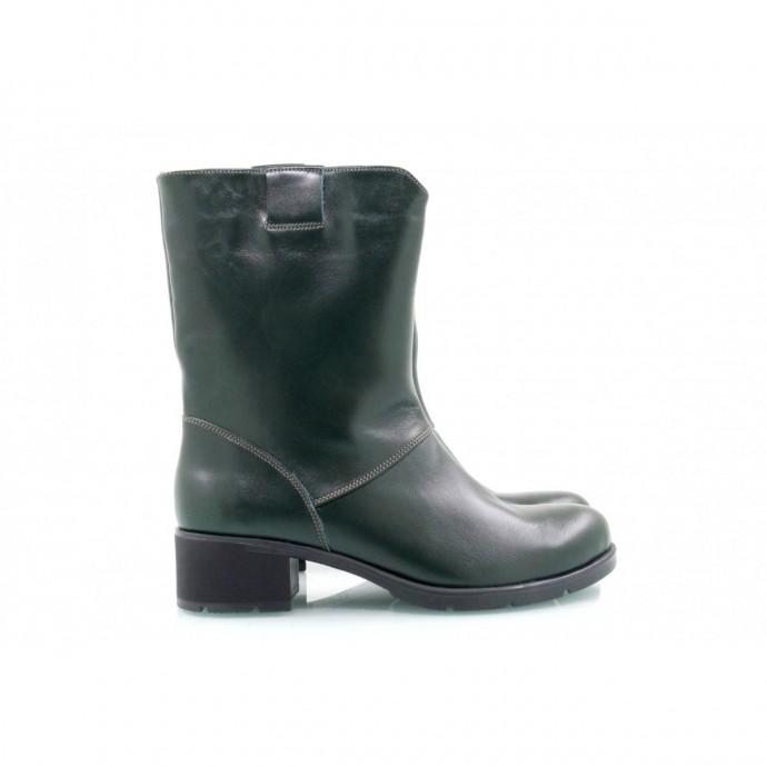 Темно-зеленые полусапожки КИРА2035-3004-04z