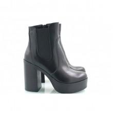 Черные ботинки высокий каблук КИРА22212-714-01ch