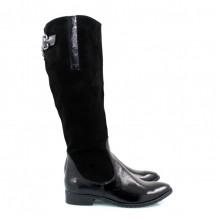 Женские черные сапожки КИРА11-2510-06-1