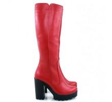 Красные сапоги КИРА11-818-09K-2
