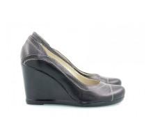 Кожаные туфли на танкетке КИРА2048-8010-04Т
