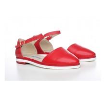 Кожаные красные босоножки КИРА11143-0016-03kr