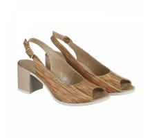 Кожаные босоножки на каблуке КИРА11125-6015-15