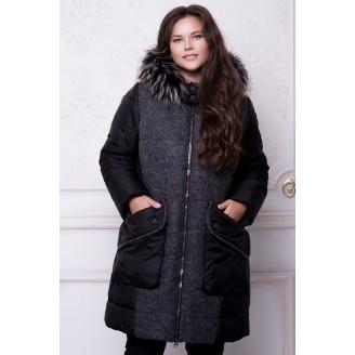 Зимняя куртка черная РРР577