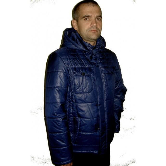 Осенняя мужская куртка синяя ЛАНА3