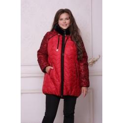 Куртка зимняя с флоком рубин АВВО559-1