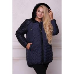 Куртка зимняя с флоком темно-синий АВВО559