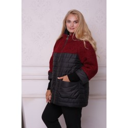 Куртка меланж красный АВВО568-1