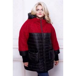 Куртка красная комбинированная АВВО568-3