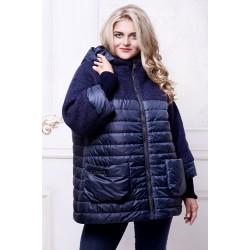 Куртка синяя комбинированная АВВО568-4
