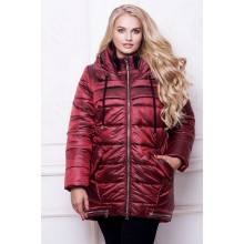 Женская куртка марсала  АВВО571-2