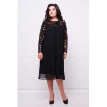 Вечернее платье КАМАЛИЯ черное САДМ804