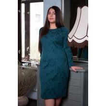 Однотонное платье ИРМА малахит САДМ809