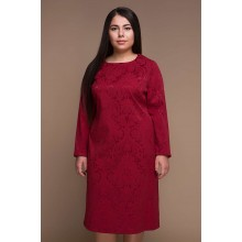 Однотонное платье ИРМА бордо САДМ8010