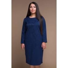 Однотонное платье ИРМА темно-синий САДМ8011
