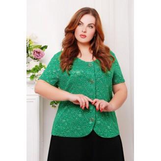 Гипюровый жакет ДАНА цвет зеленый САД26609