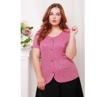 Гипюровый жакет ДАНА цвет розовый САД26603