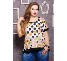 Блуза с оригинальной спинкой КАТРИН белый САД266028