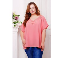 Блуза с перфорацией МИРАНДА нежно-розовый САД266022