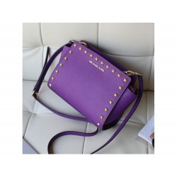 Cумка Michael Kors Selma Messenger Purple КОТ1067