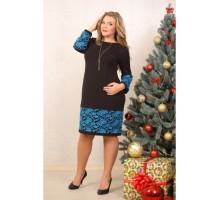 Платье Евгения синий ЗС 2027