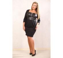 Платье Елена чёрное АВКС 0097