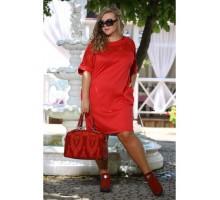 Платье Бруклин красное ПП70051